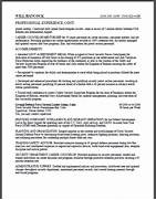 federal resume format