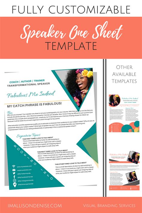 20482 exles of how to write a resume speaker one sheet template edgy allison designs