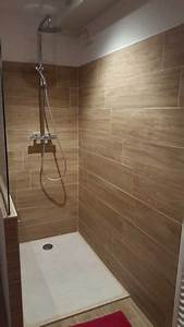 beautiful salle de bain imitation parquet photos With salle de bain carrelage imitation parquet