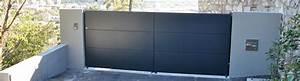 Portail Coulissant Alu Pas Cher : portail coulissant alu grande largeur lanton ~ Edinachiropracticcenter.com Idées de Décoration
