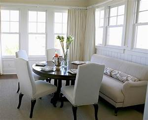 soften up your dining area with a sofa With dining room table with sofa seating