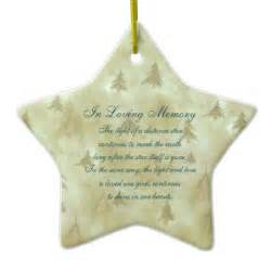 in loving memory pine fir trees death memorial double sided star ceramic christmas ornament zazzle