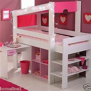 Spielbett Mädchen : m dchen kinderbett hochbett funktionsbett rosa ~ Pilothousefishingboats.com Haus und Dekorationen