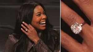 Gabrielle union 1m ring attend heat game with bodyguards for Gabrielle union wedding ring