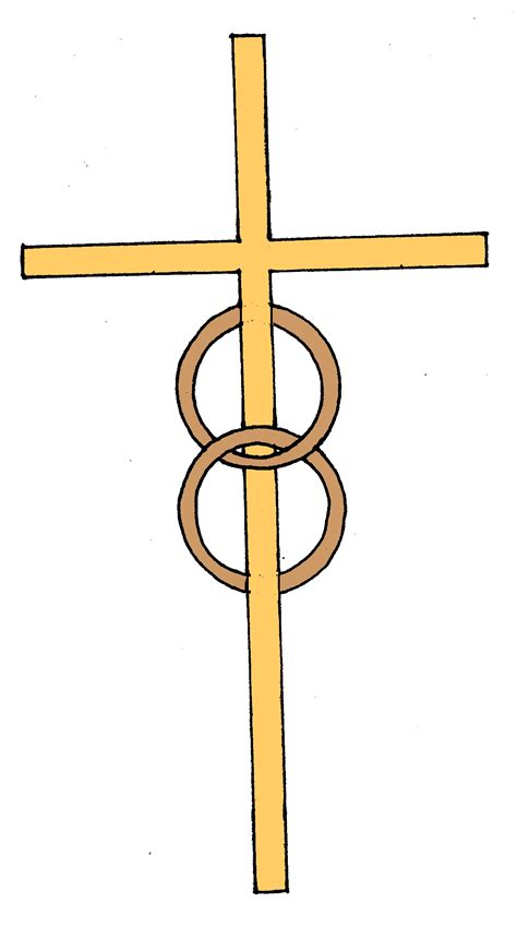 cross and wedding rings clipart www pixshark
