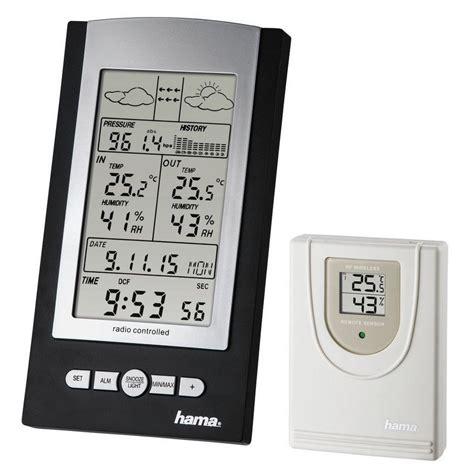 hama funk wetterstation mit aussensensor hygrometer