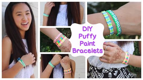 Diy Puffy Paint Bracelets How To Tutorial Youtube