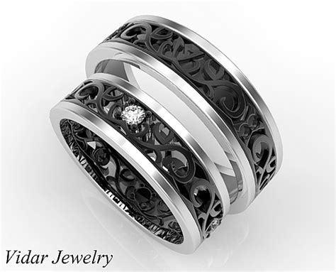 Unique Matching Wedding Bands His And Hers  Vidar Jewelry