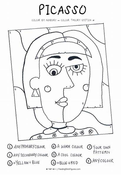 Picasso Colour Numbers Printable Activity Sheet Theory