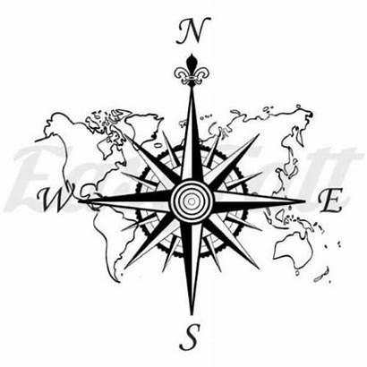 Compass Map Tattoo Tattoos Easytatt