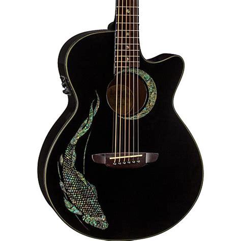Luna Guitars Fauna Folk Acousticelectric Guitar Black Koi