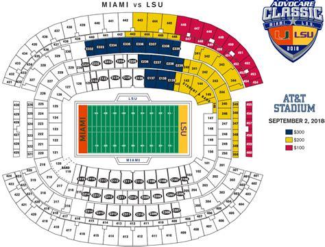 lsu miami ticket price levels  seating chart tigerdroppingscom