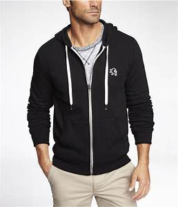 Express Fleece Small Lion Zipup Hoodie in Black for Men | Lyst