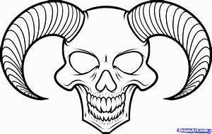 Free evil skulls coloring pages