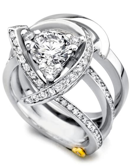 Luxury Contemporary Engagement Ring  Mark Schneider