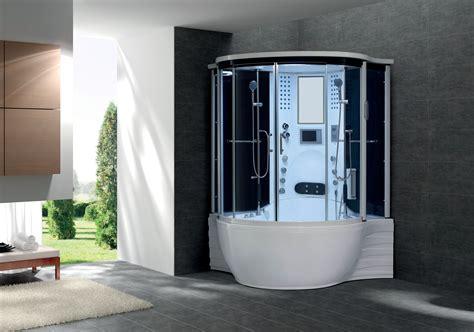 baignoire et combinee flora dual combine baignoire toute equipee hydromassage et balneo 143x143 cm avec hammam