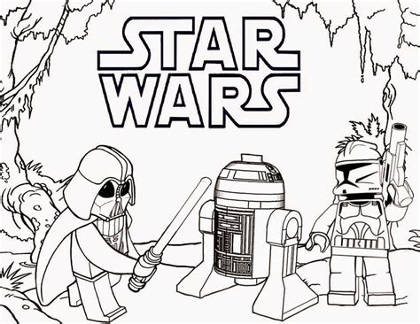 Lego Star Wars Coloring Pages To Download And Print For Free