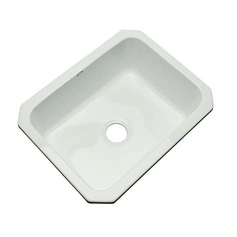 thermocast kitchen sink thermocast inverness undermount acrylic 25 in single bowl 2726