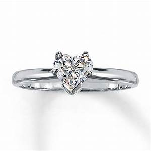 gorgeous white gold engagement ring ideas trends for With wedding rings heart diamond
