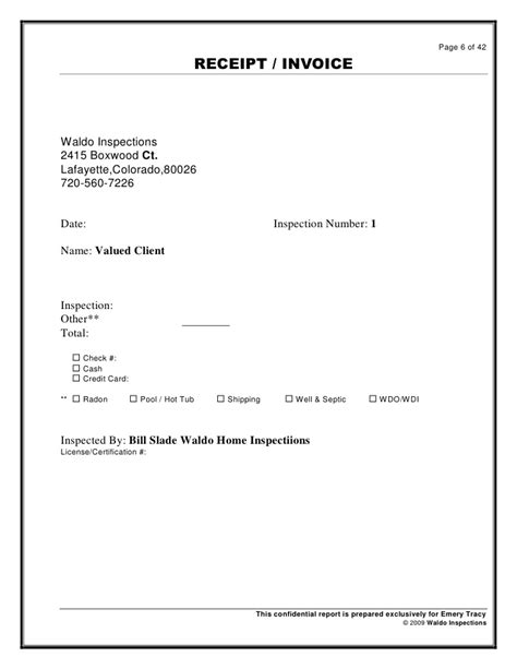 203k Contractors Resume by Roofing Invoice Template Sle Roofing Invoice Template 6