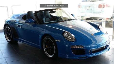 blue porsche convertible 2011 porsche 911 speedster convertible pure blue