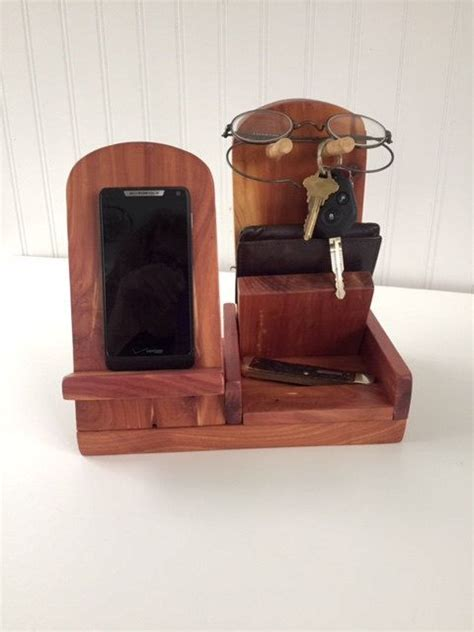 woodcrafted cell phone docking stand  wallet