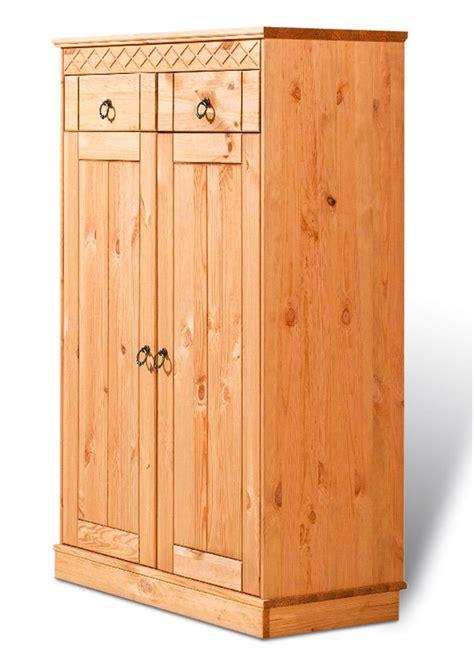 schrank mit einlegeböden ideal f 252 r den garderobenbereich der schrank quot indra quot gelaugt ge 246 lt mit 2 t 252 ren