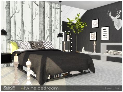 Alwine bedroom by Severinka at TSR » Sims 4 Updates