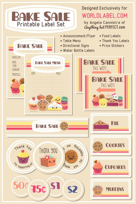 Bake Sale Printable Labels Set  Worldlabel Blog. Summer Bible Camp. Police Academy Graduation Gifts. Graduation Album Cover. Free Contractor Proposal Template. Weekly Schedule Template Word. American Flag Powerpoint Template. Cash Flow Forecast Template Excel. Christmas Gift Exchange