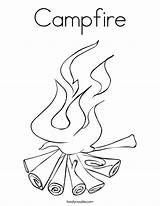 Campfire Coloring Fire Pages Log Camp Camping Printable Worksheets Getcoloringpages sketch template