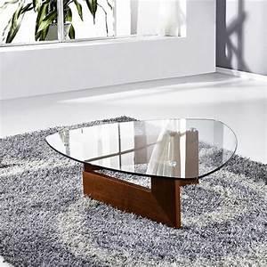 Table Basse Verre Bois : table basse verre indy bois noyer achat vente table basse table basse verre indy bois ~ Teatrodelosmanantiales.com Idées de Décoration