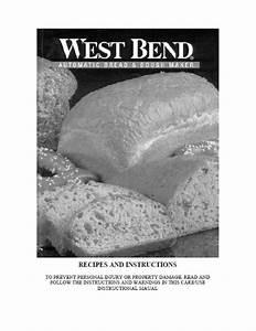 West Bend Bread Machine Manual L4805 L4854 L4960 L4972t