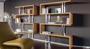 Bibliothèque Design Bois : meubles richard ~ Teatrodelosmanantiales.com Idées de Décoration