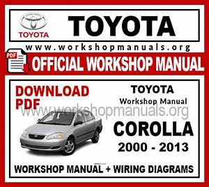 Toyota Corolla Workshop Repair Manual