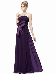 purple long evening party bridesmaid dress uniqisticcom With purple long dress for wedding