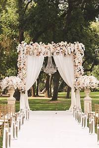 Picture Of stunning blush, peach and ivory floral wedding