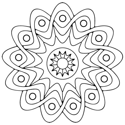 free printable geometric coloring pages for
