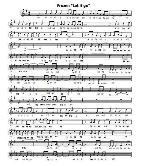 let it go frozen testo musica e spartiti gratis per flauto dolce frozen flauto