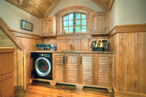tahoe charm traditional laundry room san francisco