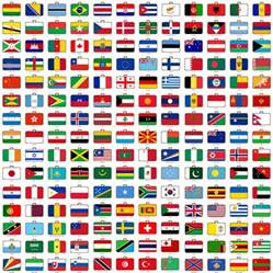 Flags of the World with Countries