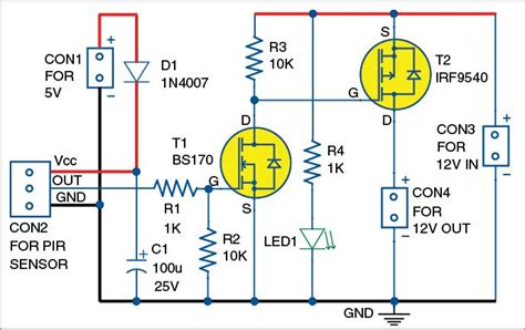 Simple Light Diagram Generator by Ir Motion Sensor Relay Switch Electronics Electronics