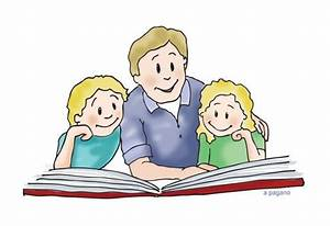 Family Reading Clipart - Clipart Suggest