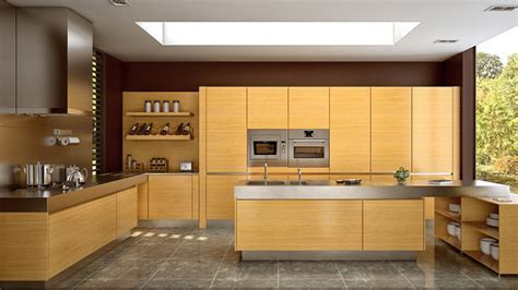 17 Wooden Matte Finished Kitchen Designs   Home Design Lover