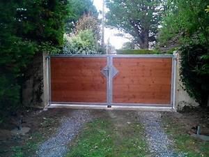 Portail En Bois : portail coulissant en bois portail en bois coulissant ~ Premium-room.com Idées de Décoration