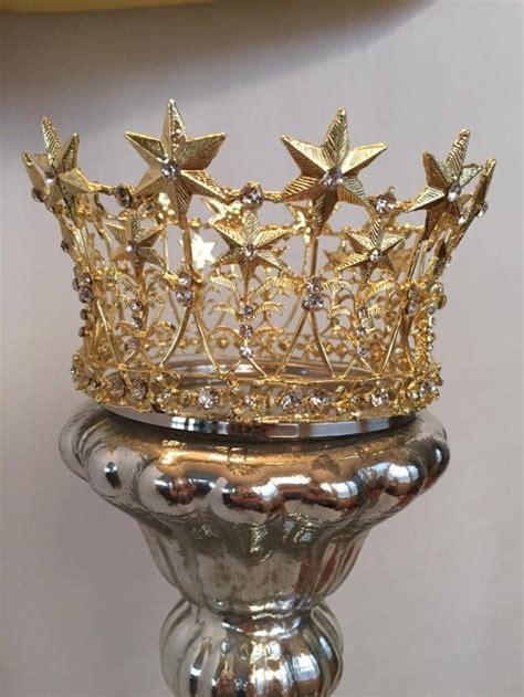 gold crown cake topper wedding cake topper rhinestone