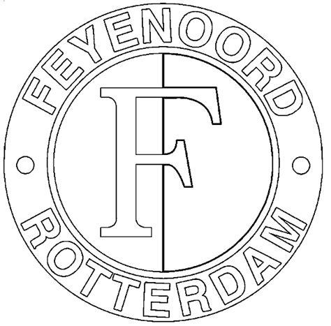 Psv Logo Kleurplaat by Eredivisie Logo Kleurplaten Feyenoord