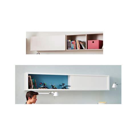 lit mezzanine bureau blanc etagère design asoral avec une porte coulissante