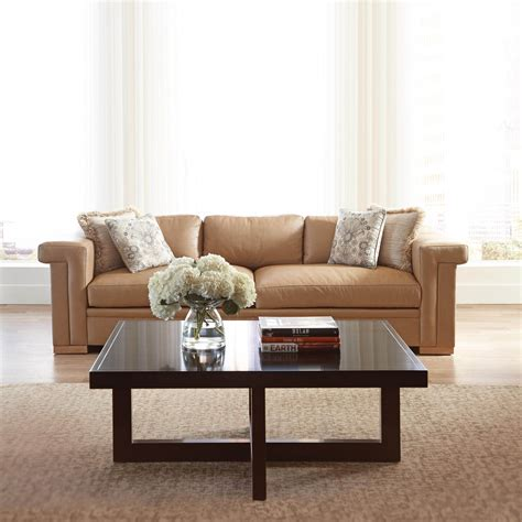 Leather Furniture Upholstery by Stickley Carson Leather Sofa Living Room Transitional