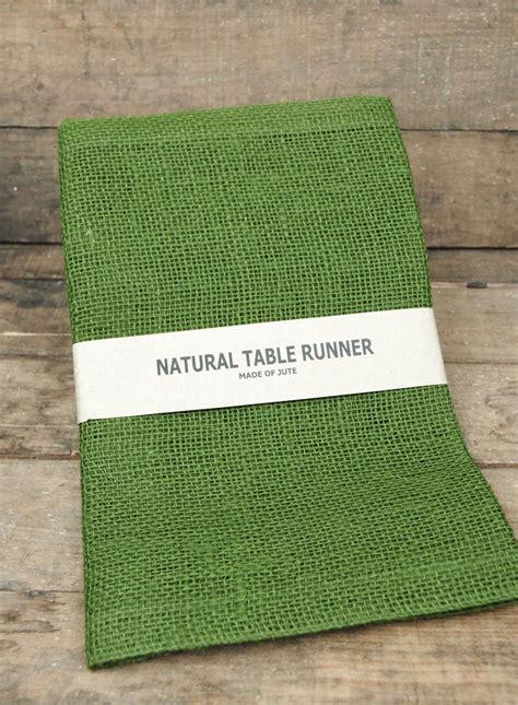 jute table runner green xin