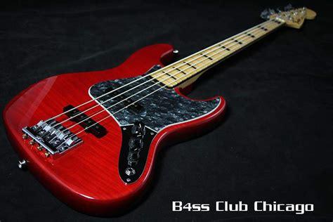 fender usa limited edition geddy lee jazz crimson red